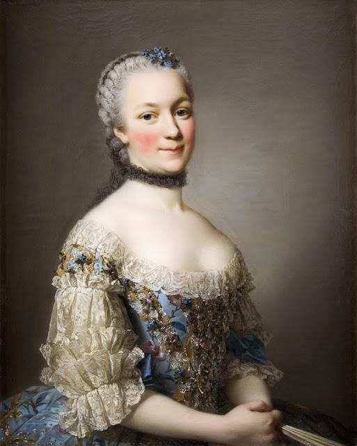 Alexander Roslin - Portrait of Katarzyna Mniszech