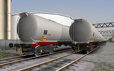 A rake of sparkly clean TEB coded tanks are seen awaiting loading with the numbering new activated