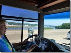 Over the Mississippi River from Dubuque IA into Wisconsin