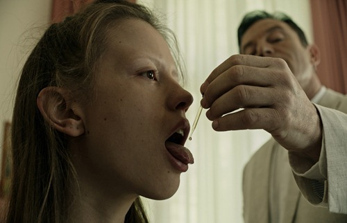 Mia Goth and Jason Isaacs - A Cure For Wellness