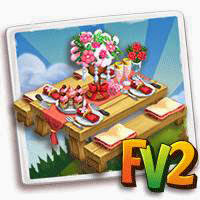 farmville 2 wedding reception table