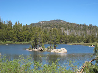 Herring Creek Reservoir and island  ©http://backpackthesierra.com