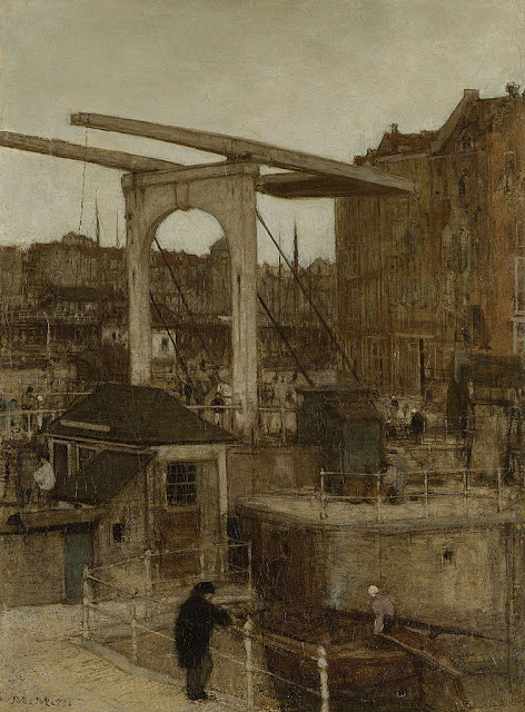Matthijs Maris - De Nieuwe Haarlemse Sluis bij het Singel, bekend als 'Souvenir d'Amsterdam'
