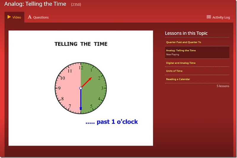 ctc 3rd grade telling time