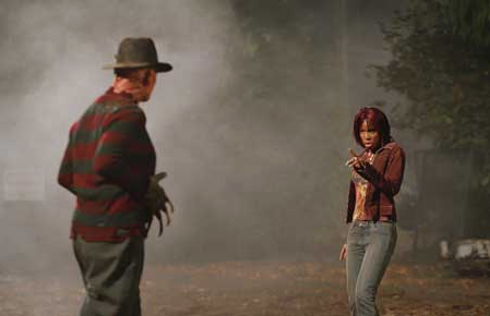 Getting dissed by Destiny's Child, Kelly Rowland's Kia Waterson late night on location Camp Crystal Lake.