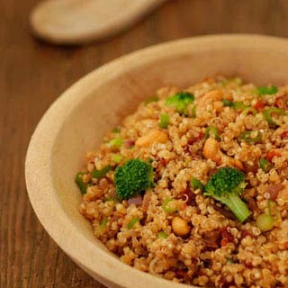 Zesty Quinoa with Broccoli and Cashews.