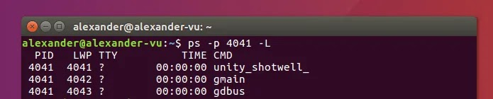 استخدم Ps على Linux L Thread Flag