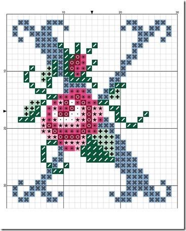 abc punto cruz letras con rosas  (23)