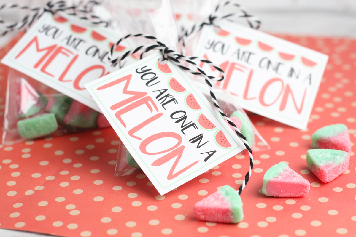 Watermelon gummy candy valentine