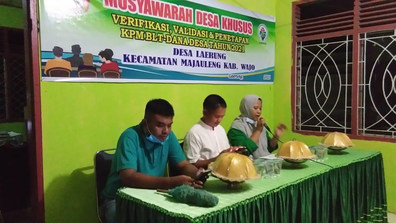 Sekdes Sudirman : Layak Tidaknya Kami Serahkan ke Forum Musyawarah Desa