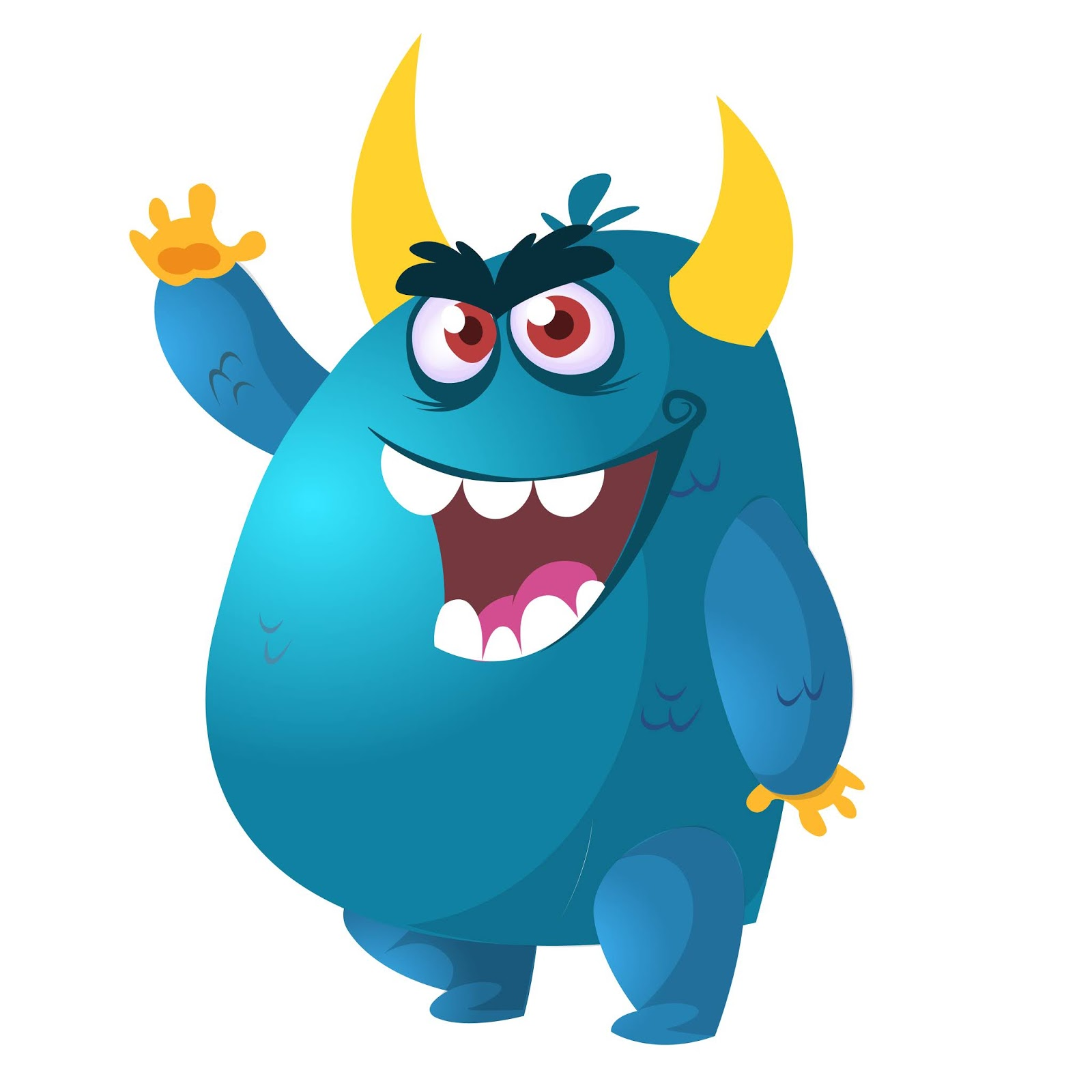 Angry Cartoon Monster Vector Illustration Free Download Vector CDR, AI, EPS and PNG Formats
