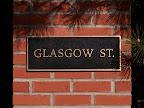 Beautiful street sign column