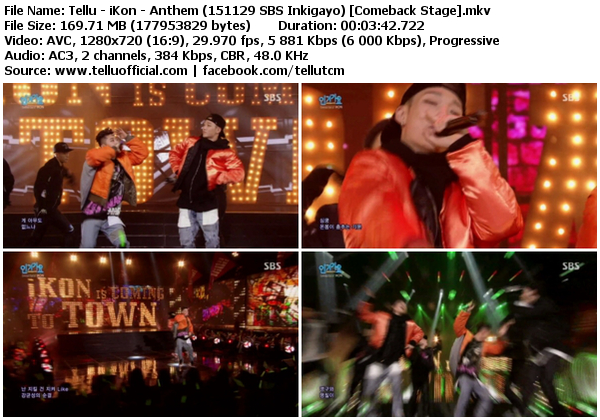 Download [Perf] iKon – Anthem + Apology @ SBS Inkigayo 151129