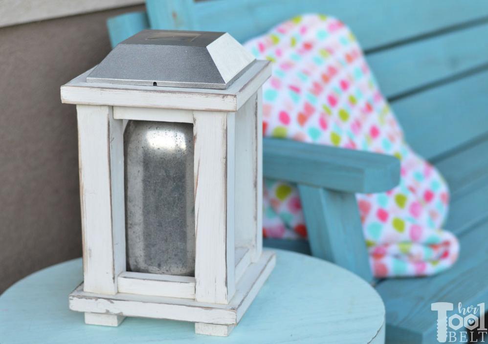 scrap wood solar lantern