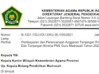 SE Tentang Pembayaran Tukin PNS Guru Madrasah 2022
