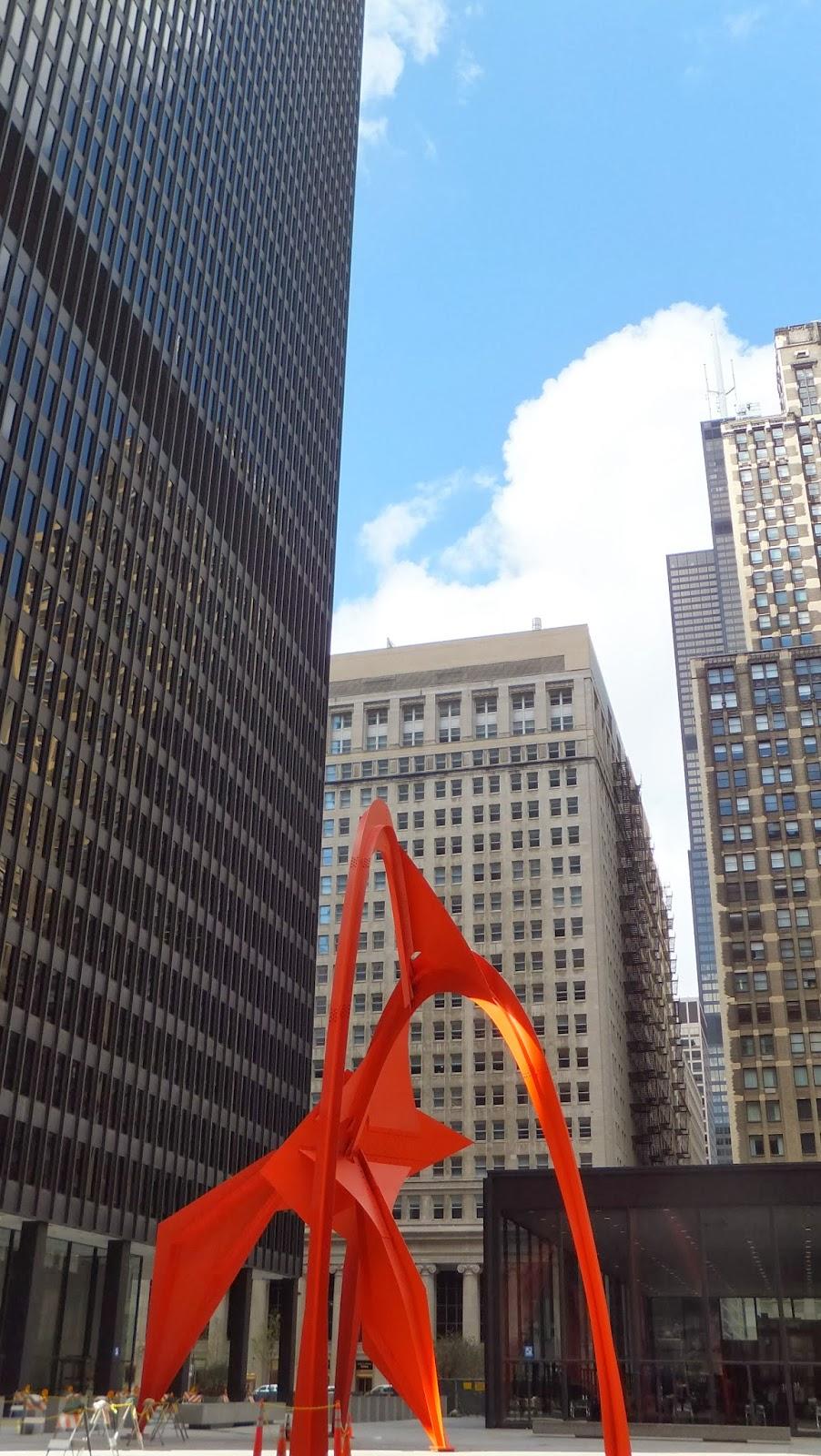 Flamingo, Alexander Calder, Chicago, Street Art, Elisa N, Blog de Viajes, Lifestyle, Travel