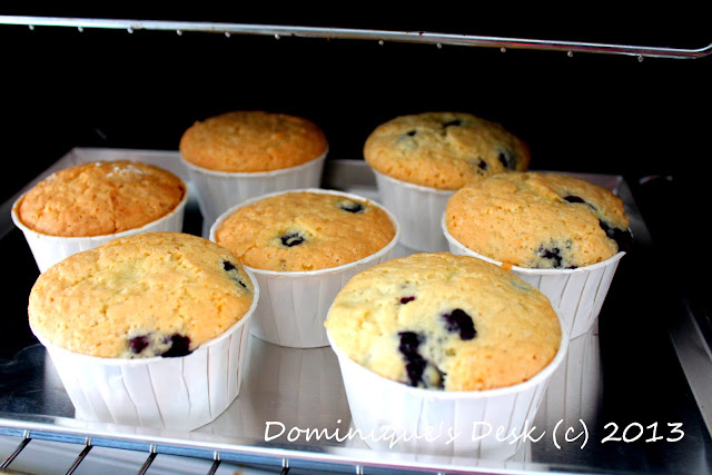 Homebaked Blueberry Muffins
