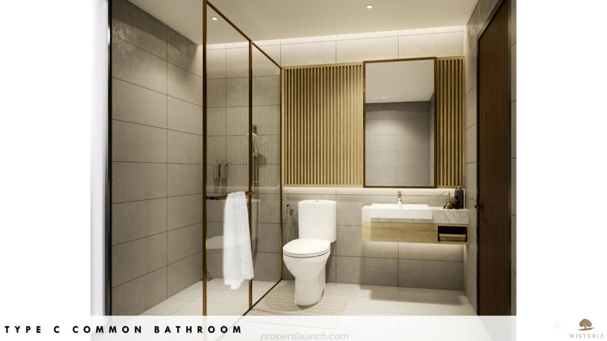Rumah Wisteria Tipe C - Bathroom