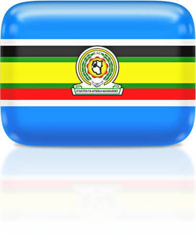 East African Community flag clipart rectangular