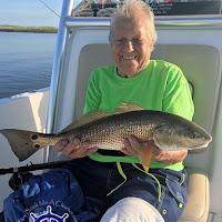Mom with Apalachicola slot redfish 08-19-2018
