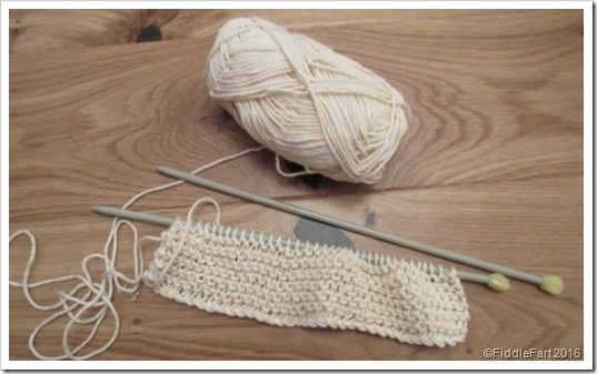 basic knitted garter stitch dishclothes