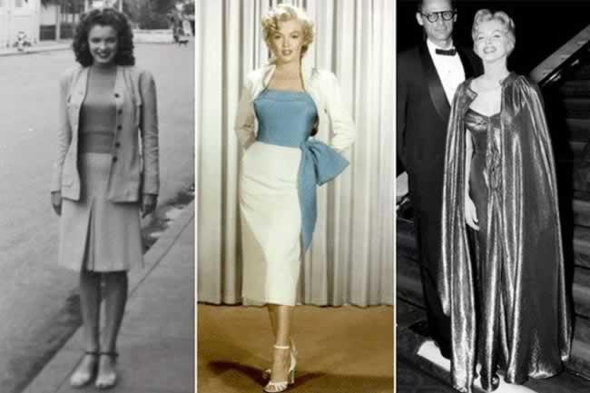 """Norma Jeane Baker, Marilyn Monroe, y """"Marilyn Miller"""" con su último marido, el escritor Arthur Miller"""
