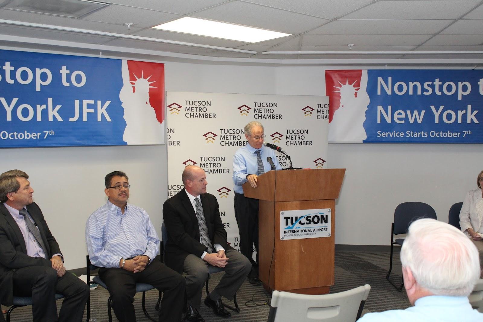 Tucson - JFK Non-Stop Route Announcement - IMG_3206.JPG