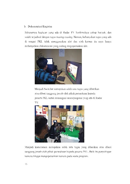Laporan PKL Doc : Contoh Laporan Prakerin Multimedia Di Stasiun TV