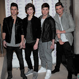 WWW.ENTSIMAGES.COM -  UNION J  arriving at a Fundraising event in aid of Cancer Research UK at The Roof Gardens Kensington High Street, London April 3rd 2013                                                    Photo Mobis Photos/OIC 0203 174 1069