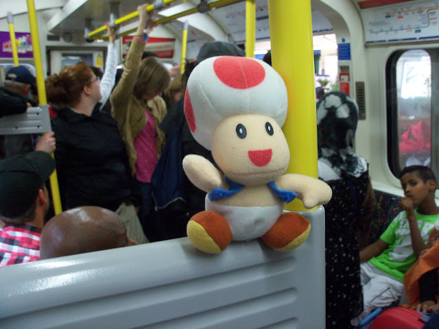 Toad riding the Underground!