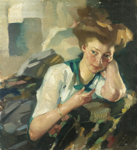 Leo Putz – Portrait of a Young Woman