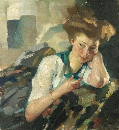 Leo Putz – Portrait of a Young Woman