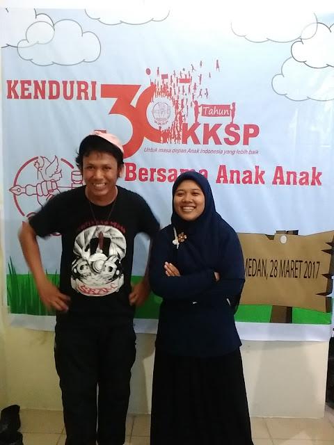 Eko Unedo Manurung di Yayasan KKSP Medan