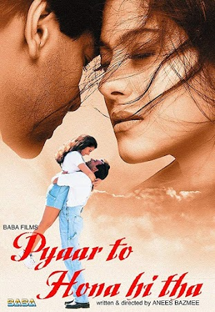 Watch Online Bollywood Movie Pyaar To Hona Hi Tha 1998 300MB HDRip 480P Full Hindi Film Free Download At WorldFree4u.Com