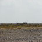 El campo eólico a lo lejos