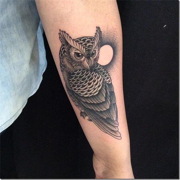 Tatuajes De Buhos Que Representan La Sabiduria Y La Prosperidad