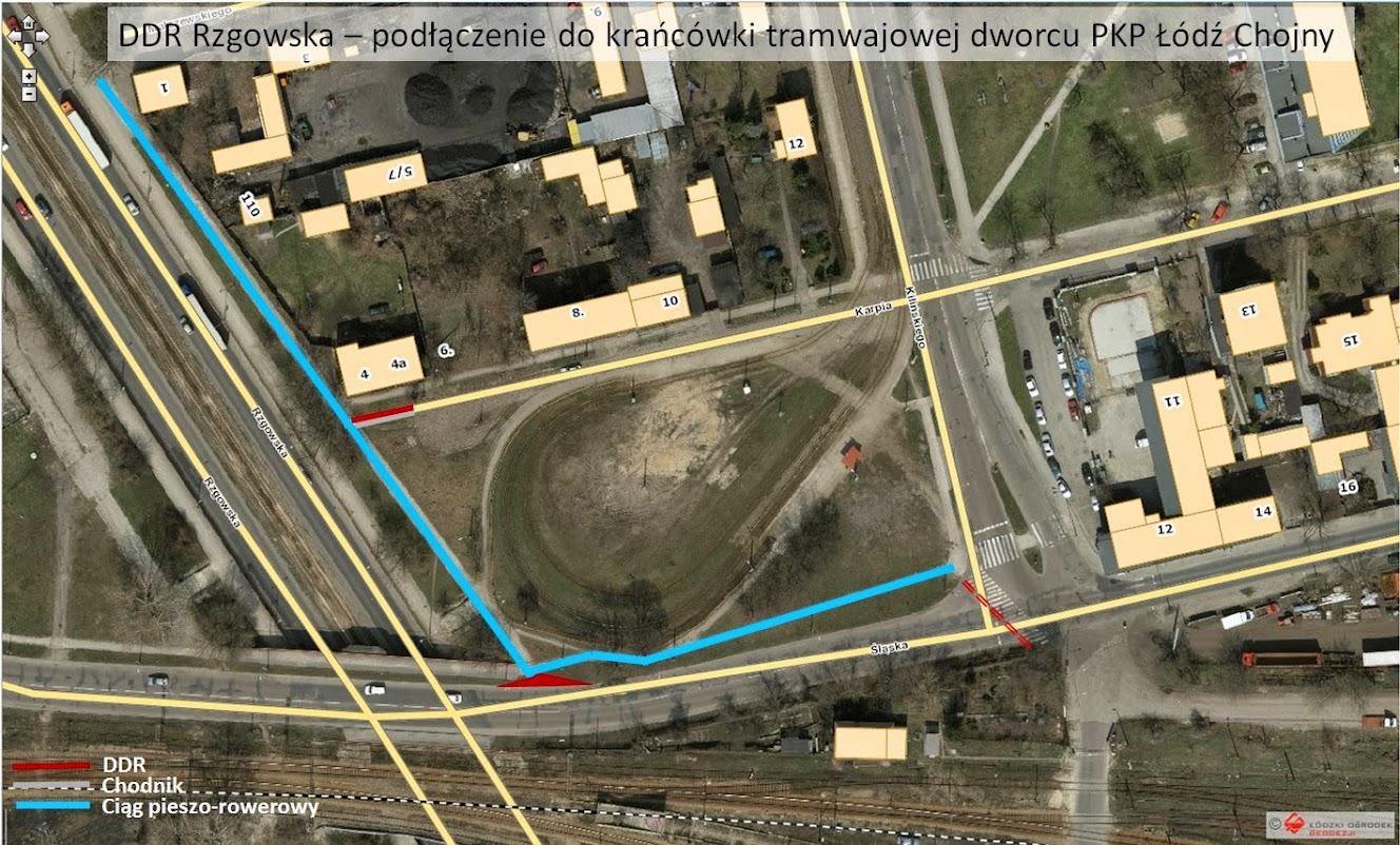 Jedna z naszych propozycji - podłączenie rowerówki do dworca PKP