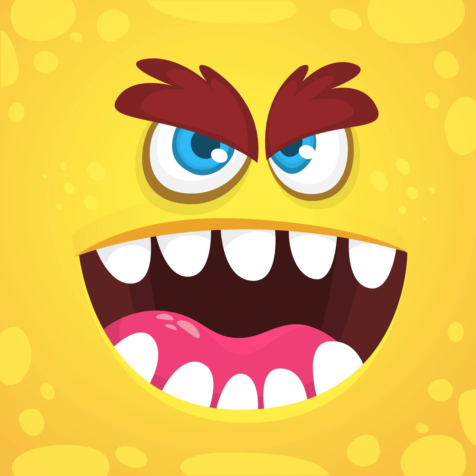 Monster Face Style Free Download Vector CDR, AI, EPS and PNG Formats