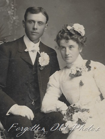 Unknown Cabinet Card Wedding Photo Crosby ant