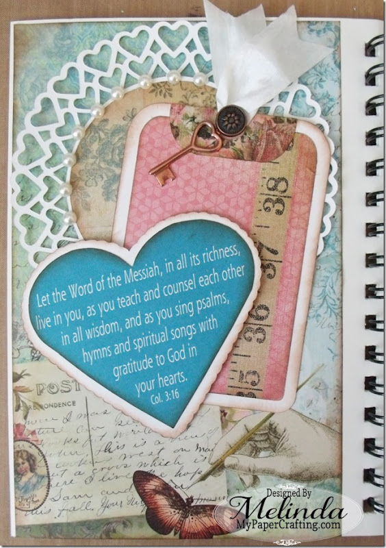 Faith Journal Heart Tag SVG Cut File Melinda Beltran