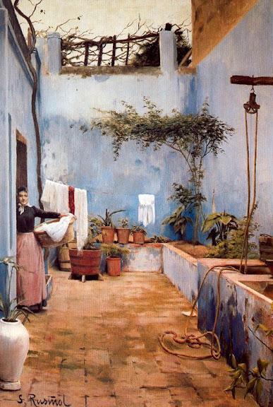 Santiago Rusiñol - El Patio Azul