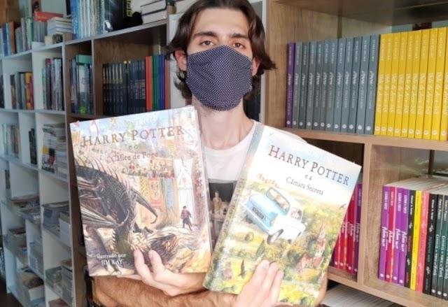 Casal fã de Harry Potter abre livraria chamada Beco Diagonal no RS