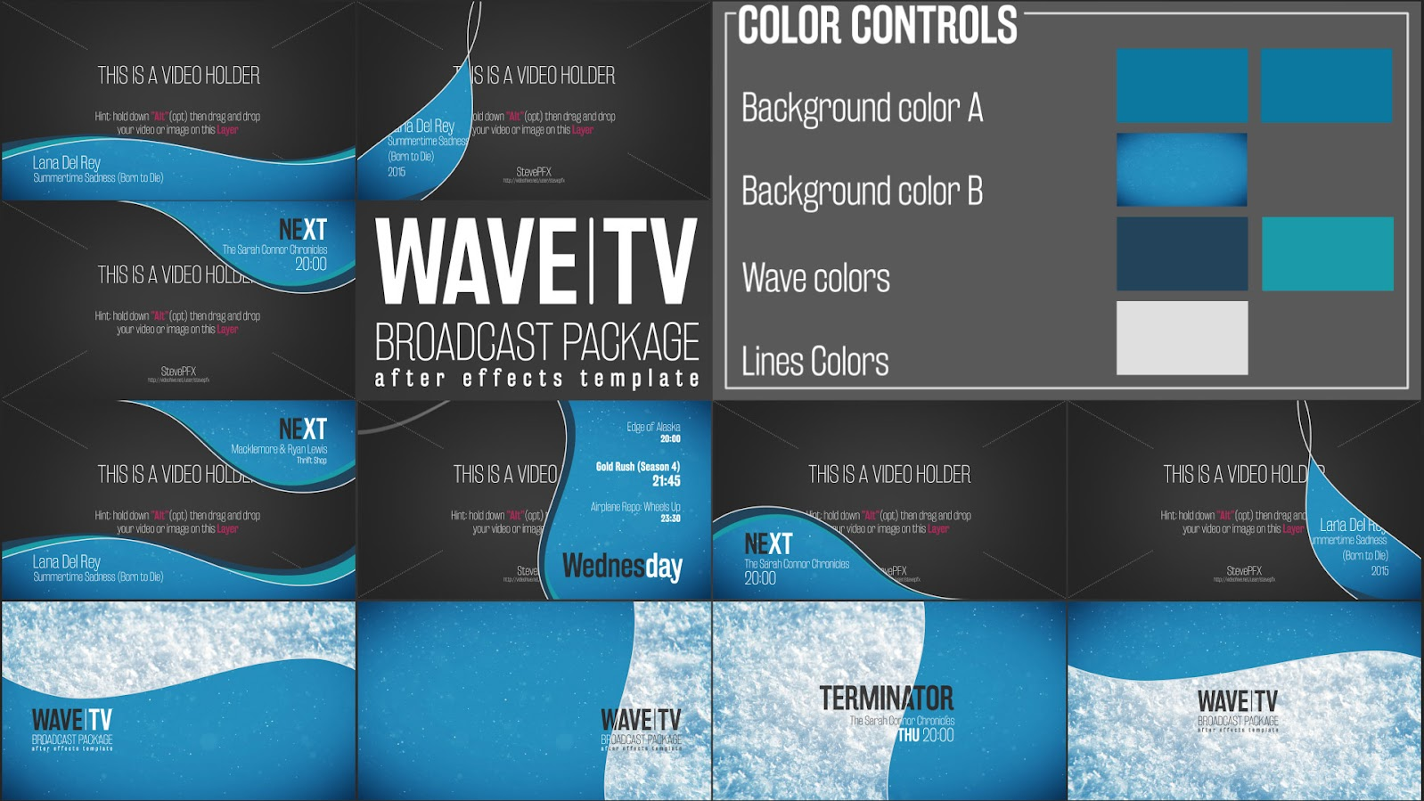 Entertaining Tv Broadcast Package After Effects Template On