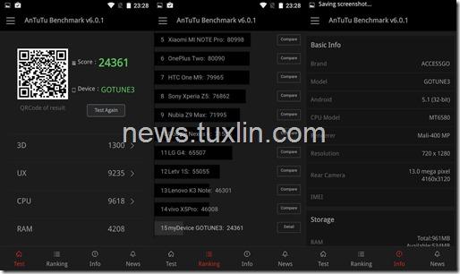 Benchmark AnTuTu v6 Accessgo Gotune 3