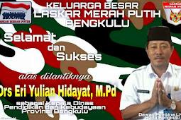 LMP Bengkulu Ucapan Selamat Kepada Eri Yulian Hidayat