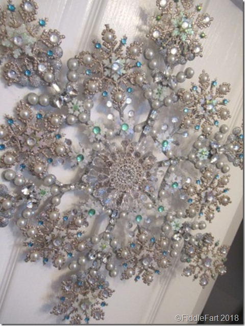 jewelled snowflake wreath 7