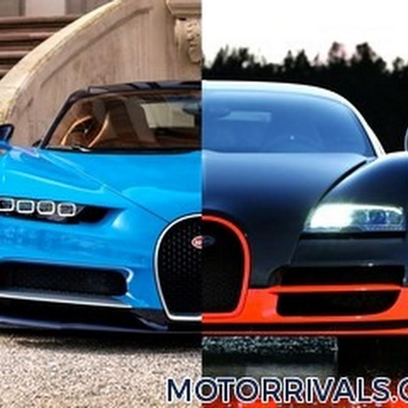 2017 bugatti chiron vs 2016 bugatti veyron super sport | motor rivals