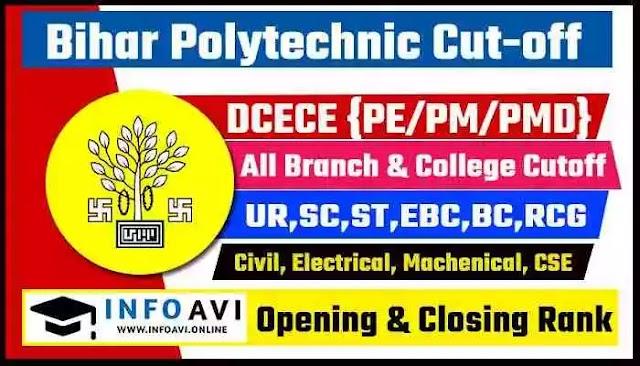 Bihar Polytechnic Cutoff 2021 DCECE Opening & Closing Rank