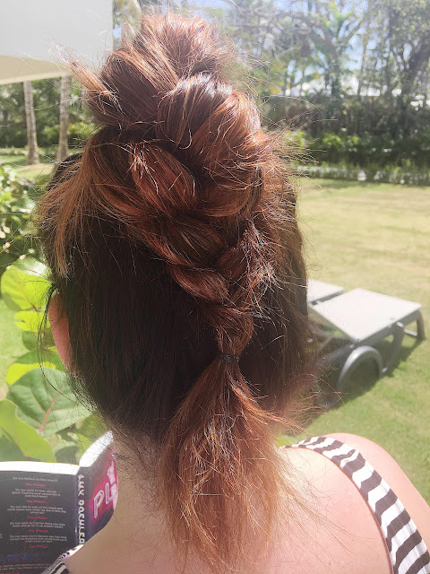 Braided hair for sun and hot weather, dutch braids, braid updos