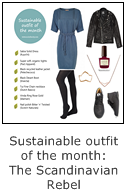sustainable outfit of the month: the scandinavian rebel